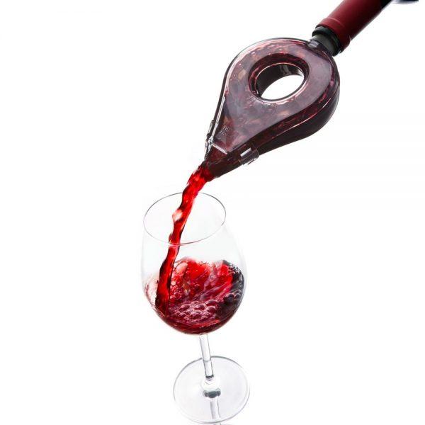 Prevzdušňovač vína šedo-transparentný, Vacu Vin | regioWine