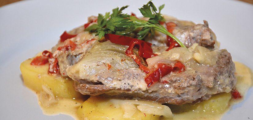 Recept: Krkovička so smotanovými zemiakmi