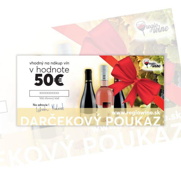 Darčekový poukaz v hodnote 50€ | regioWine