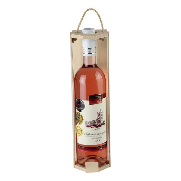 Drevenná kazeta na 1 fľašu vína, otvorená, šesťhranná | Promitor Vinorum