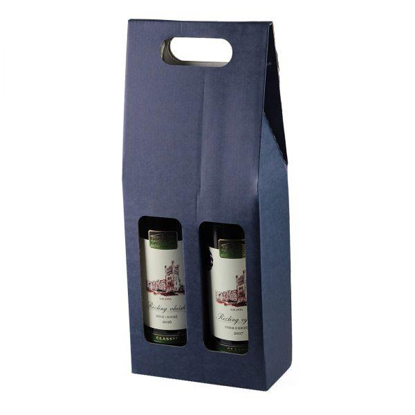 Kartónový obal na 2 fľaše vína, otvor s klenbou, Promitor Vinorum | regioWine