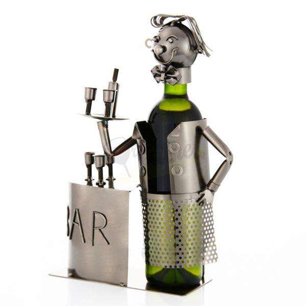 Kovový stojan na víno s motívom Čašník, Promitor Vinorum | regioWine