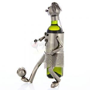 Kovový stojan na víno s motívom Futbalista, Promitor Vinorum | regioWine