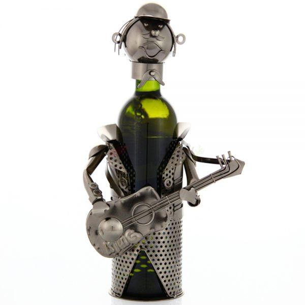 Kovový stojan na víno s motívom Gitarista, Promitor Vinorum | regioWine
