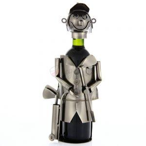 Kovový stojan na víno s motívom Golfista, Promitor Vinorum | regioWine