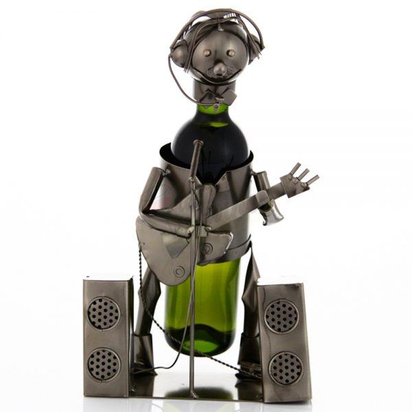 Kovový stojan na víno s motívom Hudobník, Promitor Vinorum | regioWine