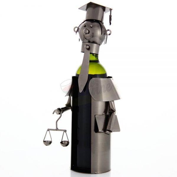 Kovový stojan na víno s motívom Justícia, Promitor Vinorum | regioWine