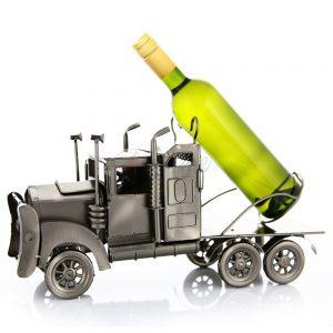Kovový stojan na víno s motívom Kamión, Promitor Vinorum | regioWine