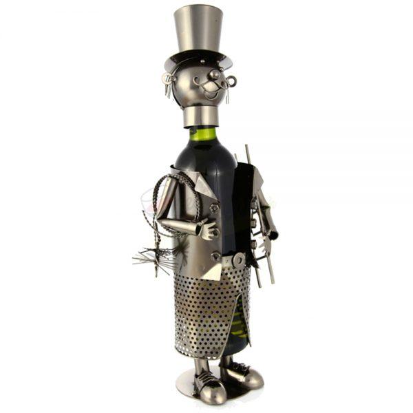 Kovový stojan na víno s motívom Kominár, Promitor Vinorum | regioWine
