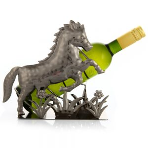 Kovový stojan na víno s motívom Kôň, Promitor Vinorum | regioWine