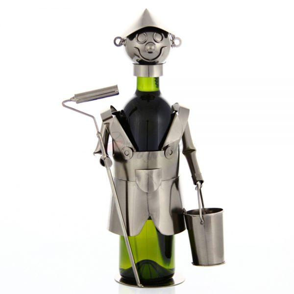 Kovový stojan na víno s motívom Maliar natierač, Promitor Vinorum | regioWine