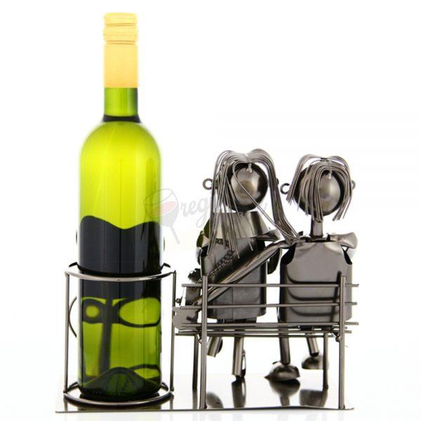 Kovový stojan na víno s motívom Milenci, Promitor Vinorum | regioWine