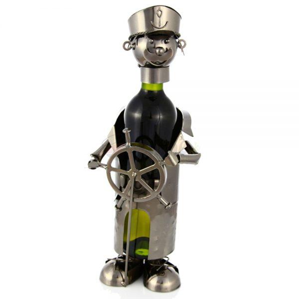 Kovový stojan na víno s motívom Námorník, Promitor Vinorum | regioWine