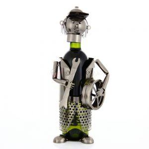 Kovový stojan na víno s motívom Automechanik, Promitor Vinorum | regioWine