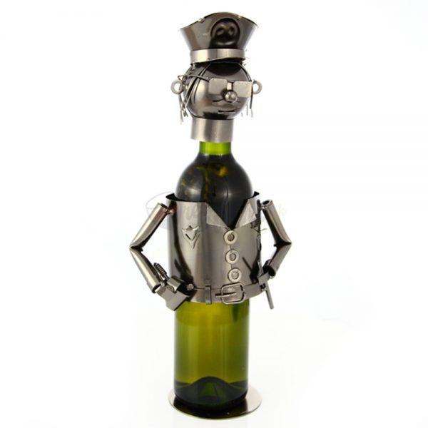 Kovový stojan na víno s motívom Policajt, Promitor Vinorum   regioWine