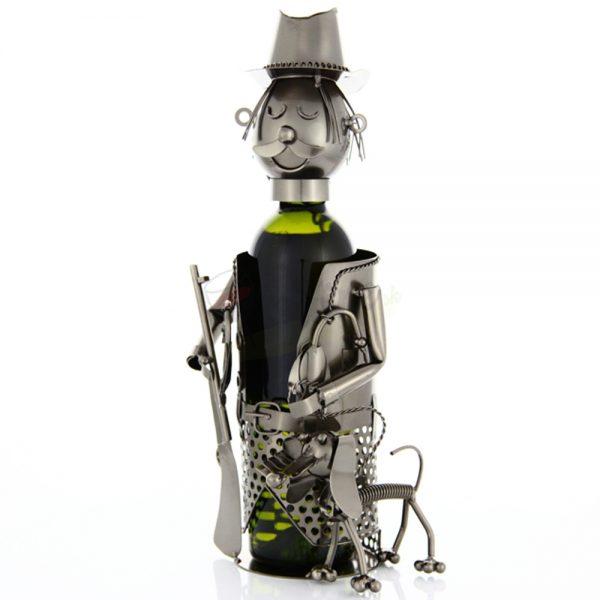 Kovový stojan na víno s motívom Polovník, Promitor Vinorum | regioWine