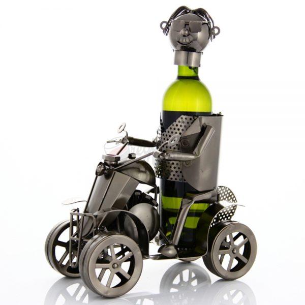 Kovový stojan na víno s motívom Štvorkolka, Promitor Vinorum | regioWine