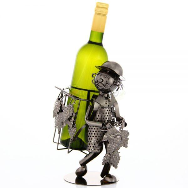 Kovový stojan na víno s motívom Vinár, Promitor Vinorum | regioWine