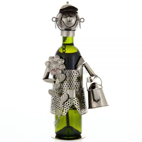 Kovový stojan na víno s motívom Záhradník, Promitor Vinorum   regioWine