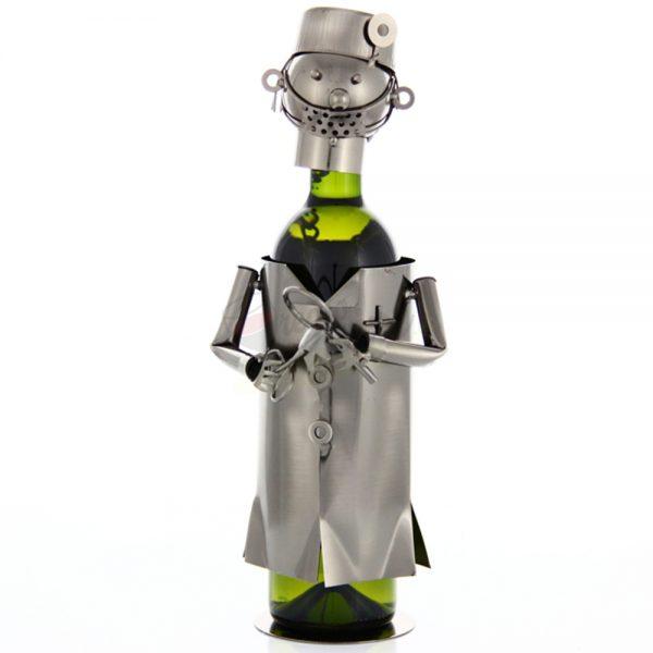 Kovový stojan na víno s motívom Zubár, Promitor Vinorum | regioWine