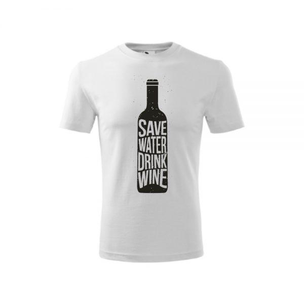 Tričko pánske na vínnu cestu, biele, motív 2 | regioWine