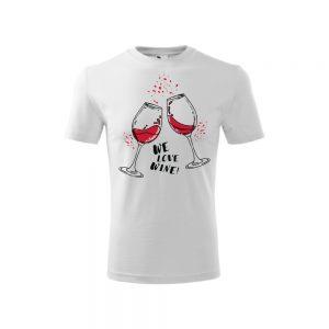 Tričko pánske na vínnu cestu, biele, motív 3 | regioWine