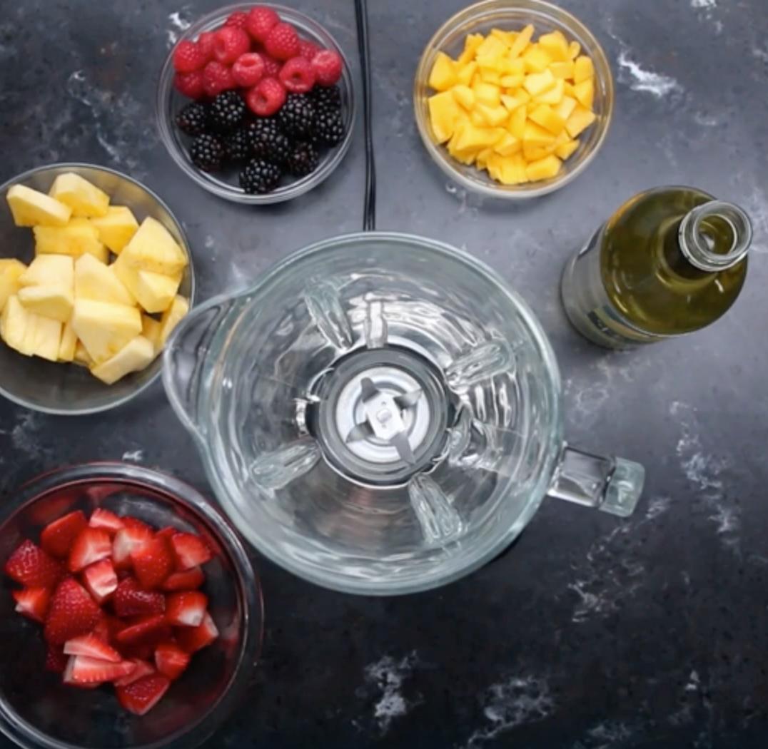Recept: Sorbet z ovocia a bieleho vína | regioWine